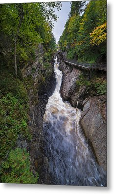 Metal Print featuring the photograph High Falls Gorge Adirondacks by Mark Papke