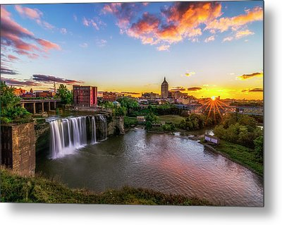 High Falls Rochester Ny Metal Print by Mark Papke