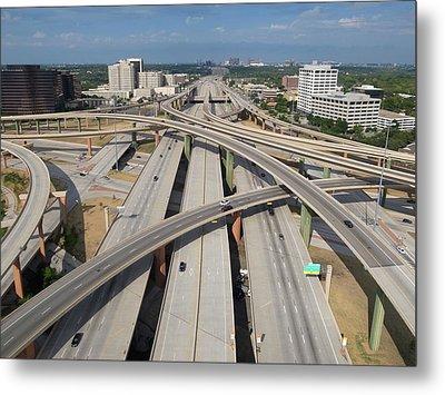 High Five Interchange, Dallas, Texas Metal Print by Jeff Attaway