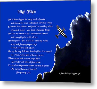 High Flight Metal Print by Mike Flynn
