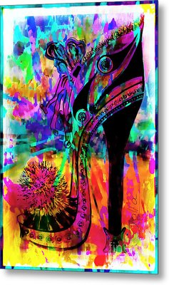 High Heel Heaven Abstract Metal Print