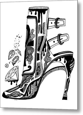 High Heels And Diamonds Metal Print by Kenal Louis