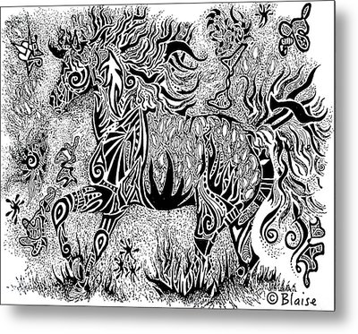 High Horse Metal Print by Yvonne Blasy