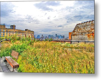 High Line On The Hudson Metal Print by Randy Aveille