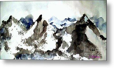 High Mountain Peaks Metal Print by Carol Grimes