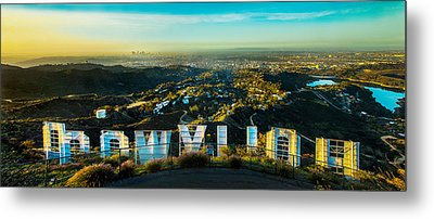 High On Hollywood Metal Print by Az Jackson