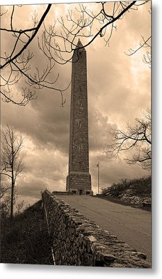 High Point Obelisk In Sepia  Metal Print