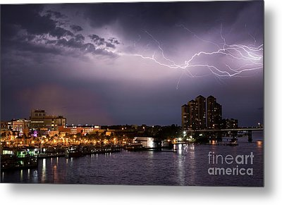 High Point Place Nights Metal Print