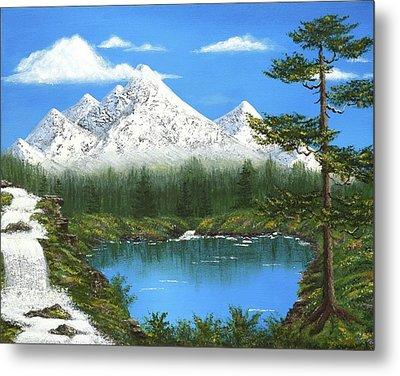 High Sierras Lake Metal Print