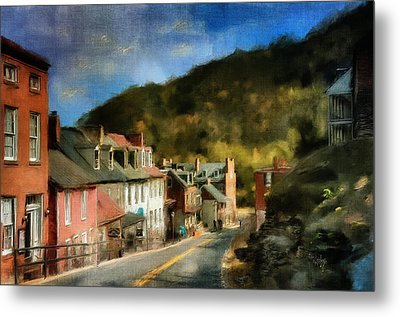 High Street In The Early Evening Metal Print