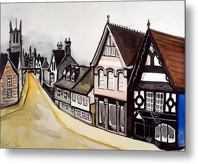 High Street Of Stamford In England Metal Print