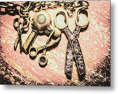 High Style Hairdresser Kit Metal Print by Jorgo Photography - Wall Art Gallery