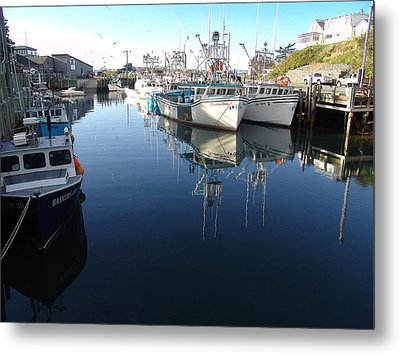 High Tide At Hall's Harbour Metal Print