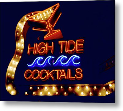 Metal Print featuring the photograph High Tide Cocktails by Matthew Bamberg