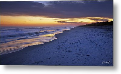 High Tide In Fading Light Metal Print by Phill Doherty