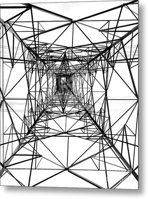 High Voltage Power Mast Metal Print by Yali Shi