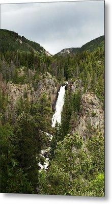 High Water At Fish Creek Falls Metal Print by Daniel Hebard
