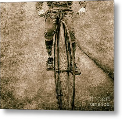 High Wheeling In Vintage Time  Metal Print by Steven Digman