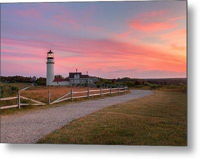 Highland Light Sunset 2015 Metal Print by Bill Wakeley