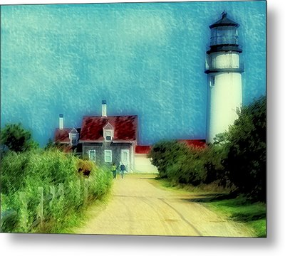 Highland Lighthouse II Metal Print by Gina Cormier