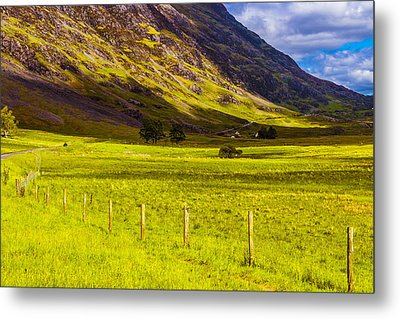 Metal Print featuring the photograph Highland Way I by Steven Ainsworth