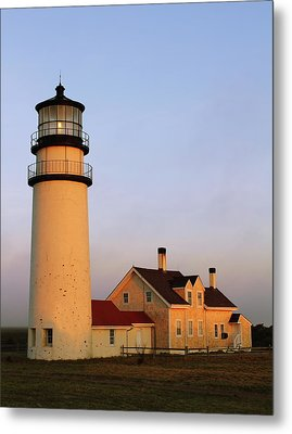 Metal Print featuring the photograph Higland Lighthouse Cape Cod by Roupen  Baker