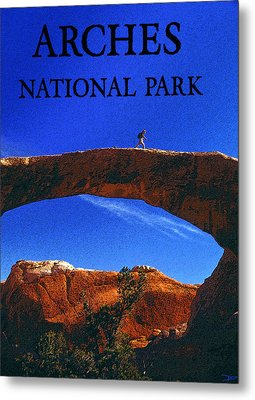 Hiking Arches Metal Print by David Lee Thompson