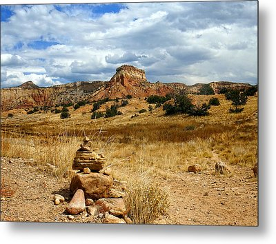Metal Print featuring the photograph Hiking Ghost Ranch New Mexico by Kurt Van Wagner