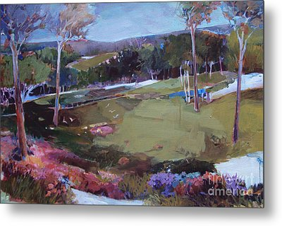Metal Print featuring the painting Hill Country by Diane Ursin