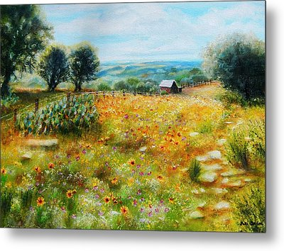 Hill Country Mile Metal Print