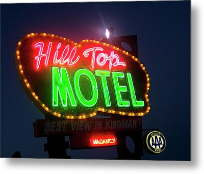 Metal Print featuring the photograph Hill Top Motel by Matthew Bamberg