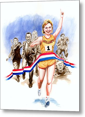 Hillary And The Race Metal Print