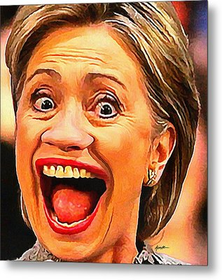 Hillary Clinton Metal Print by Anthony Caruso