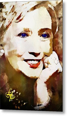 Hillary Clinton Metal Print by Lynda Payton