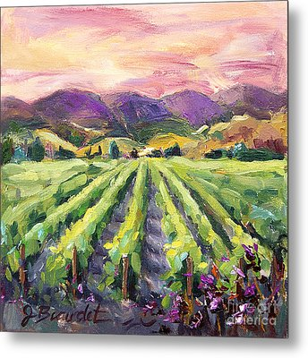 Metal Print featuring the painting Hills Of Fire by Jennifer Beaudet
