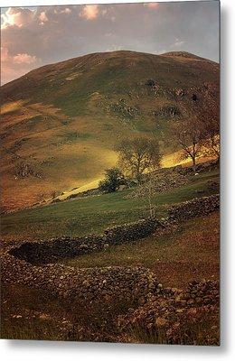 Hills Of Scotland At The Sunset Metal Print by Jaroslaw Blaminsky