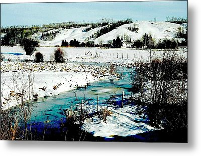 Hills Of Tawatinaw Metal Print