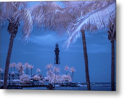 Metal Print featuring the photograph Hillsboro Inlet Lighthouse Infrared by Louis Ferreira