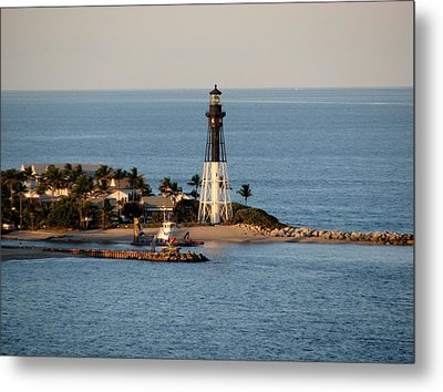 Hillsboro Lighthouse In Florida Metal Print