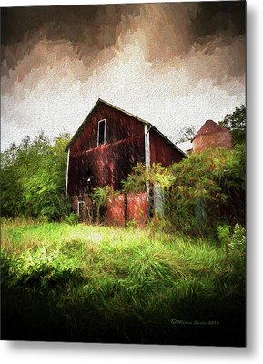 Hillside Barn Metal Print by Marvin Spates