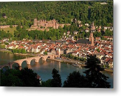 Hilltop View - Heidelberg Castle Metal Print by Greg Dale