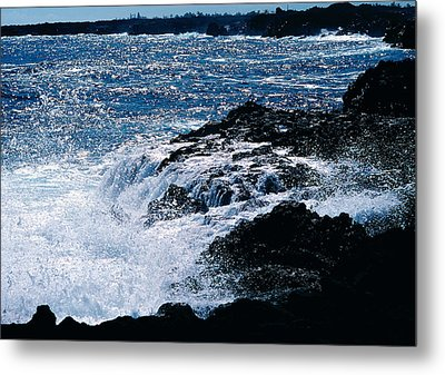 Metal Print featuring the photograph Hilo Coast Waves by Gary Cloud