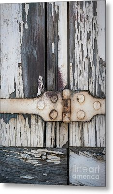 Metal Print featuring the photograph Hinge On Old Shutters by Elena Elisseeva