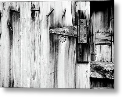 Hinged In Black And White Metal Print