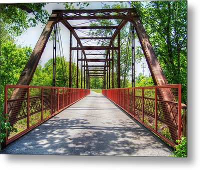 Hinkson Creek Bridge Metal Print by Cricket Hackmann