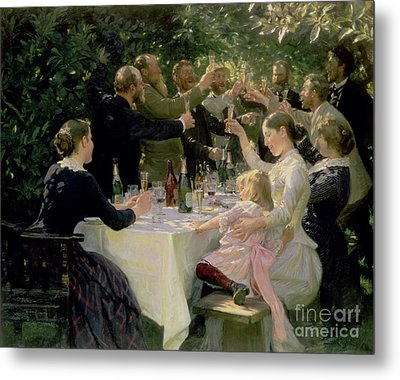 Hip Hip Hurrah Metal Print by Peder Severin Kroyer