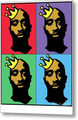 Hip Hop Icons Tupac Shakur Metal Print by Stanley Slaughter Jr