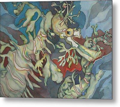 Hippocampe Blue Metal Print by Liduine Bekman