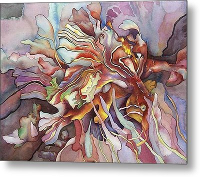 Hippocampe Rouge Metal Print by Liduine Bekman