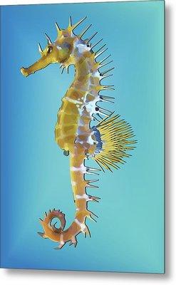 Hippocampus  Metal Print by Quim Abella
